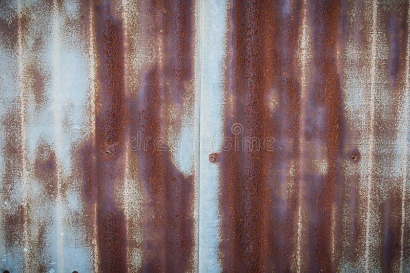 生锈的老锌纹理 库存图片