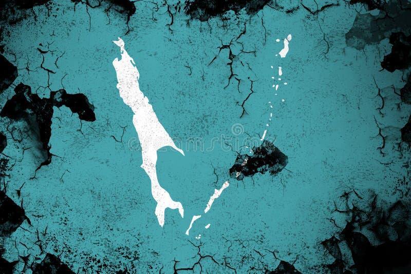 生锈的萨哈林岛和难看的东西旗子例证 皇族释放例证