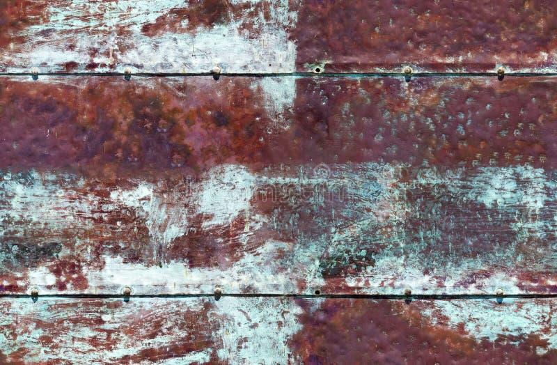生锈的蓝色棕色铁无缝的背景无缝的背景 免版税库存图片