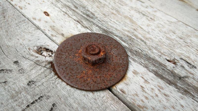 生锈的螺栓 免版税库存照片