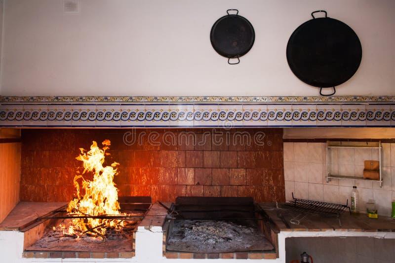 生锈的西班牙国家厨房。 图库摄影