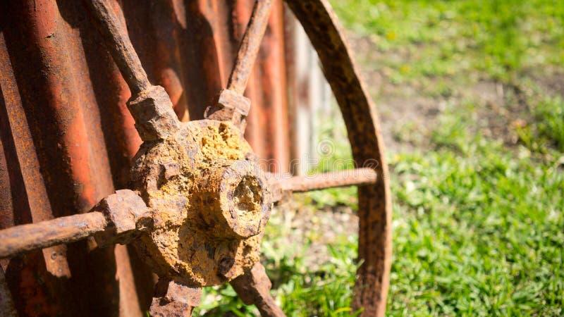 生锈的轮子 图库摄影