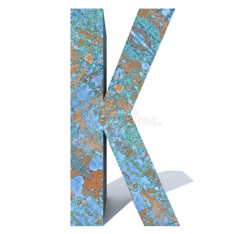 生锈的金属字体或类型、铁或者钢铁工业片断 免版税库存图片