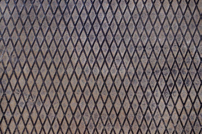 生锈的金属有用作为背景或纹理 减速火箭,古老 免版税库存图片