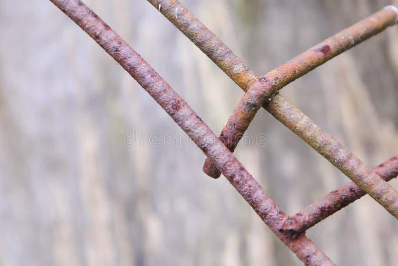 生锈的金属滤网 一个生锈的金属滤网的表面的片段 免版税库存照片
