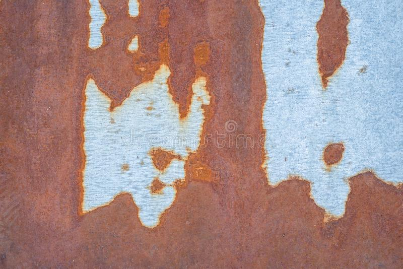 生锈的金属纹理,老铁表面 免版税库存照片