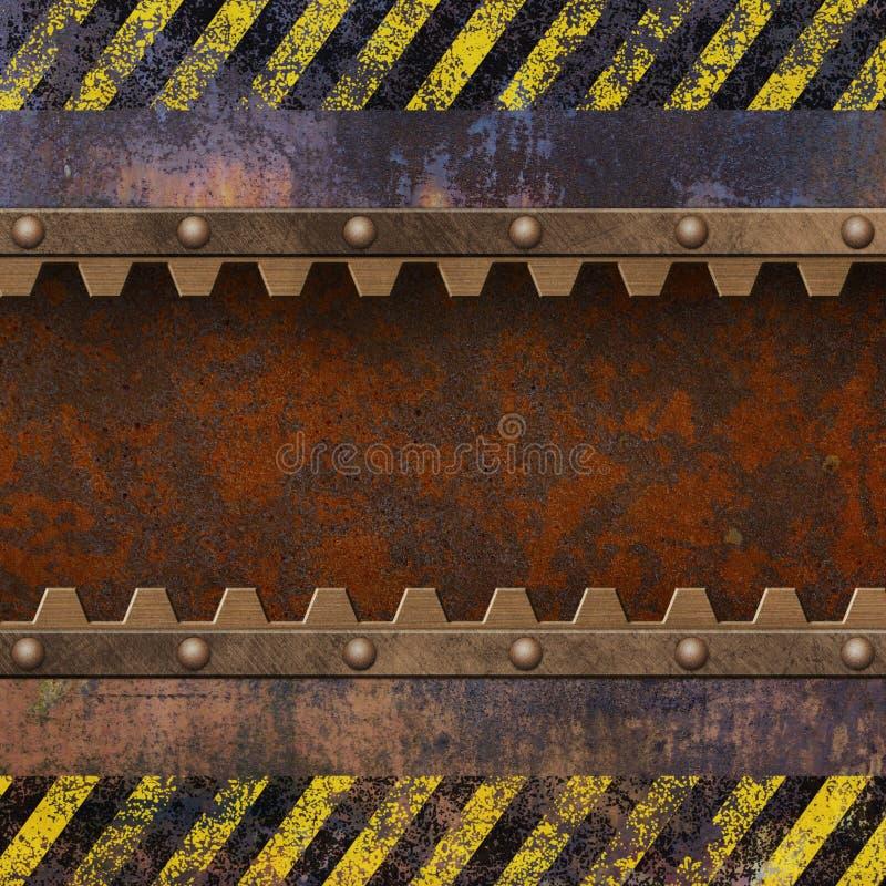 生锈的金属背景 库存例证