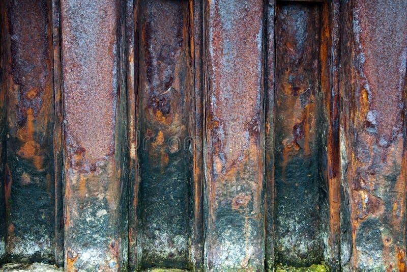 生锈的钢墙壁 库存图片