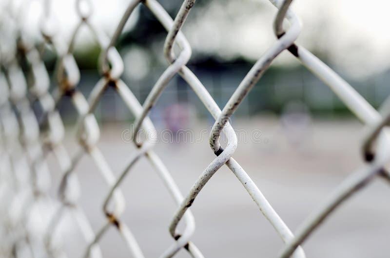 生锈的钢绳滤网 图库摄影