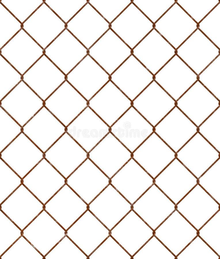 生锈的铁丝网无缝的样式 库存图片