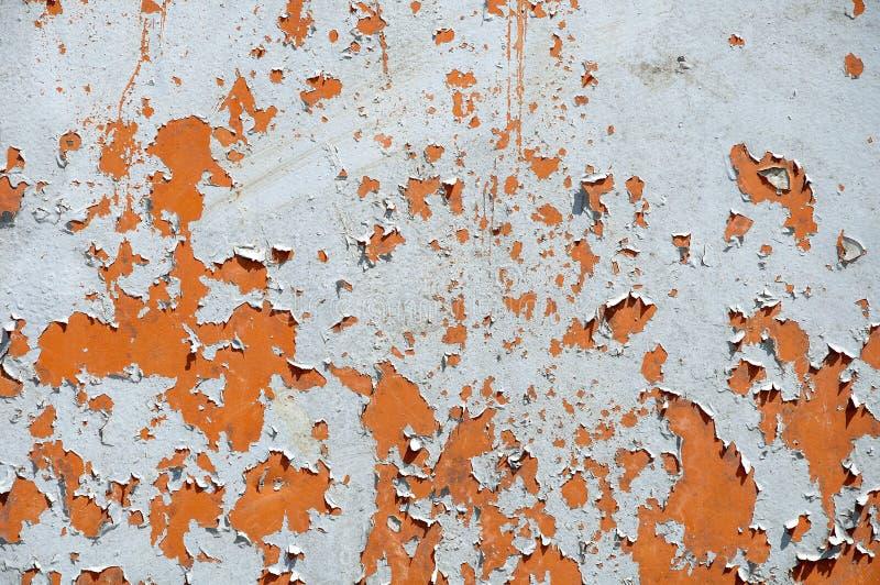 生锈的铁背景纹理  腐蚀金属 老镇压和抓痕 免版税库存照片