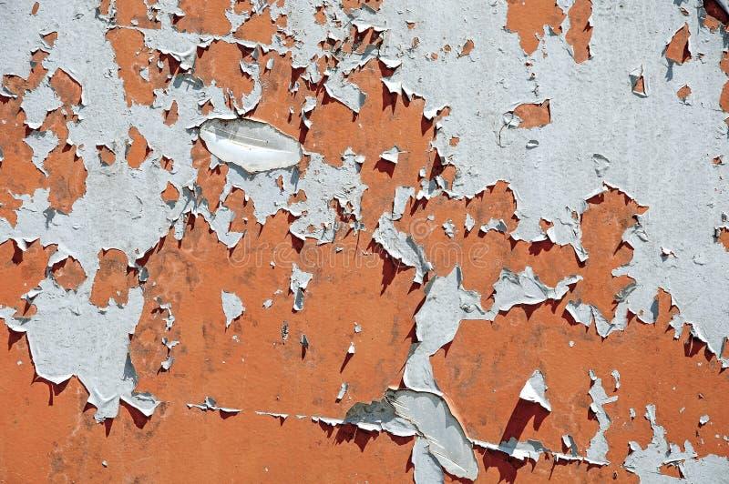生锈的铁背景纹理  腐蚀金属 老镇压和抓痕 库存照片
