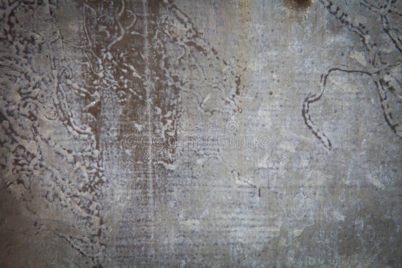 生锈的锌纹理 免版税库存照片