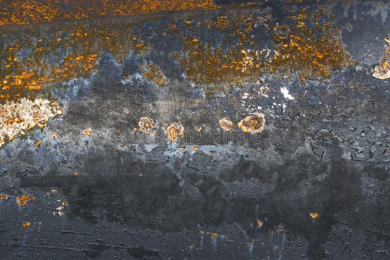 生锈的锡背景与铁锈的 库存图片
