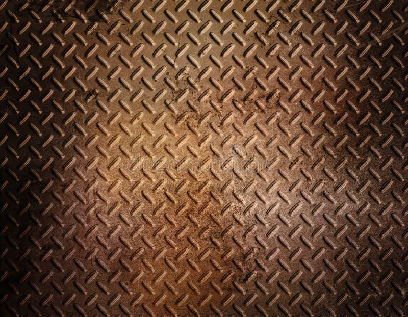 生锈背景的金属 向量例证