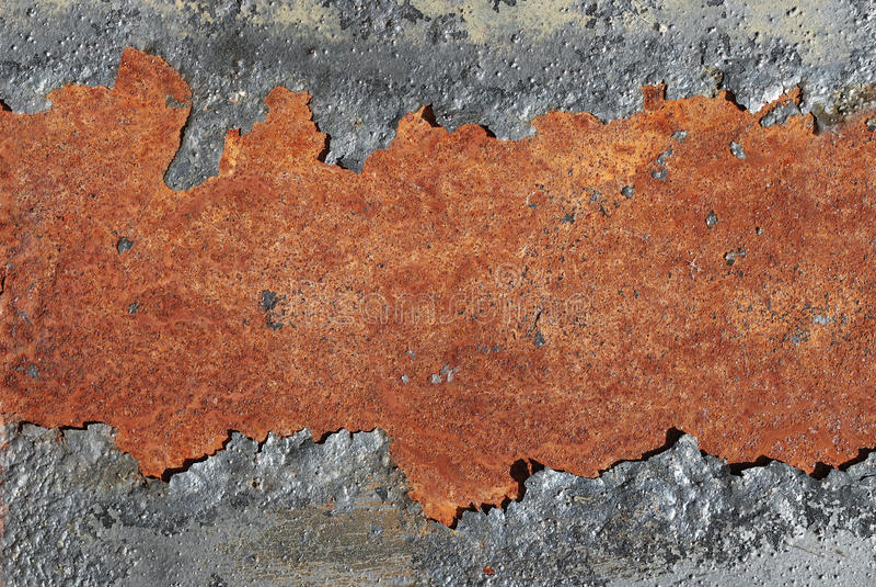生锈背景破裂的金属 免版税库存图片