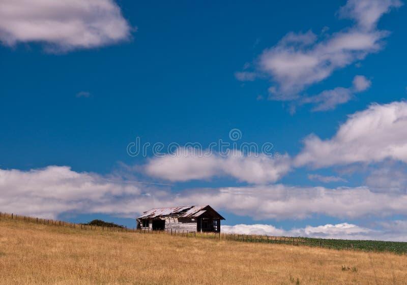 生锈谷仓的域 库存图片