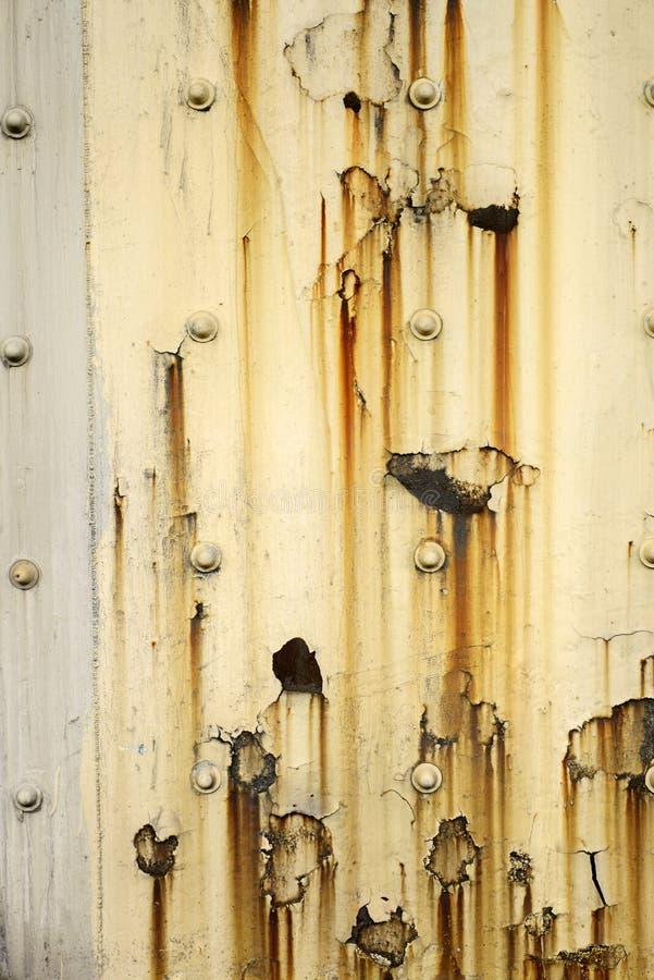 生锈金属的面板 库存图片