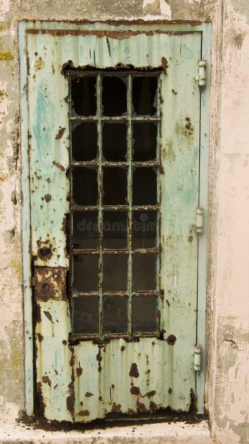 生锈alcatraz的门 库存照片