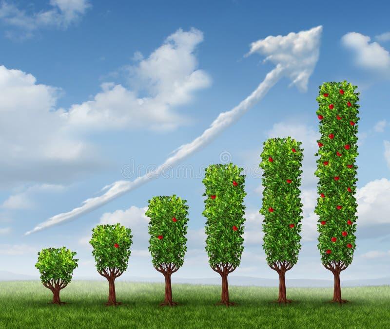 生长企业成就 向量例证