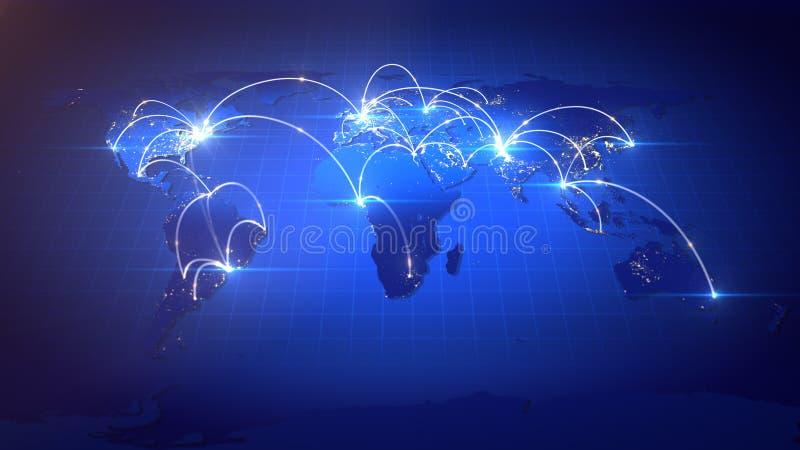 生长全球企业网络 皇族释放例证