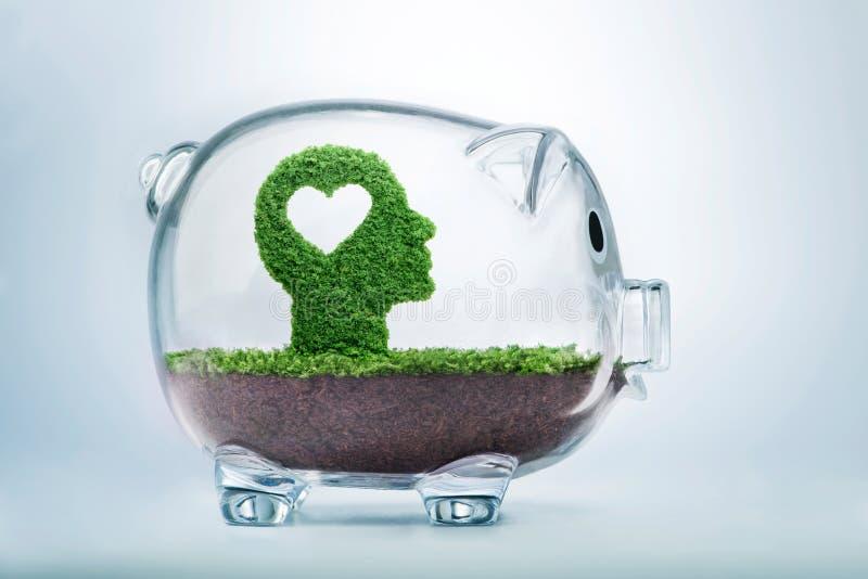 生长情感智力投资概念 免版税库存照片