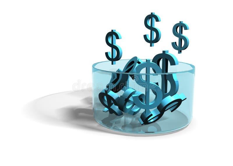 生长收入的美元 库存例证
