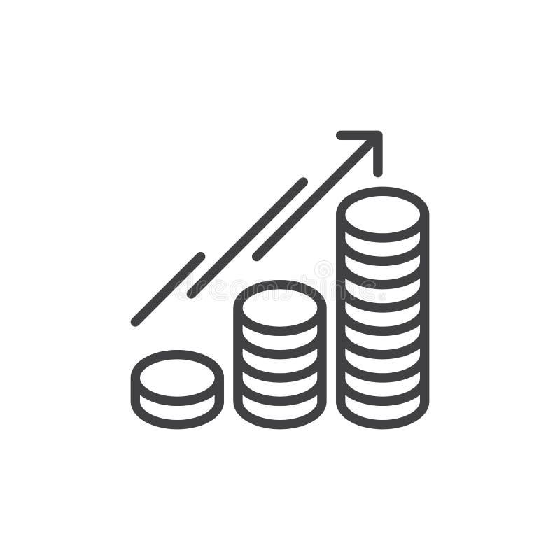 生长线象,概述传染媒介标志的硬币 皇族释放例证