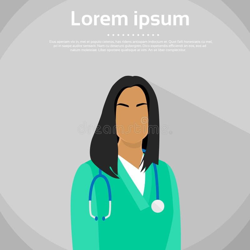 医生非裔美国人的种族外形象 库存例证