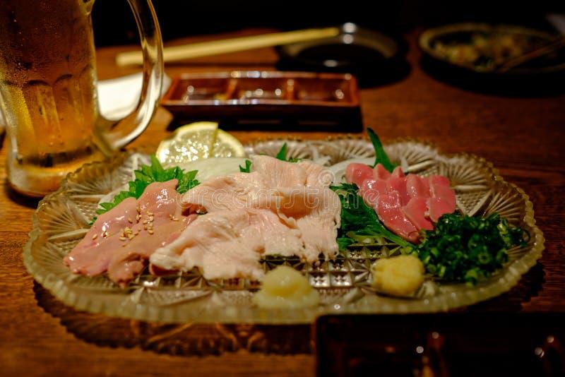 生鱼片晚餐在冲绳岛 免版税图库摄影