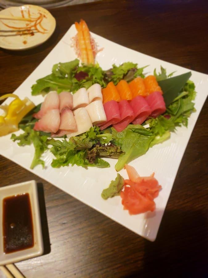 生鱼片盛肉盘 库存照片