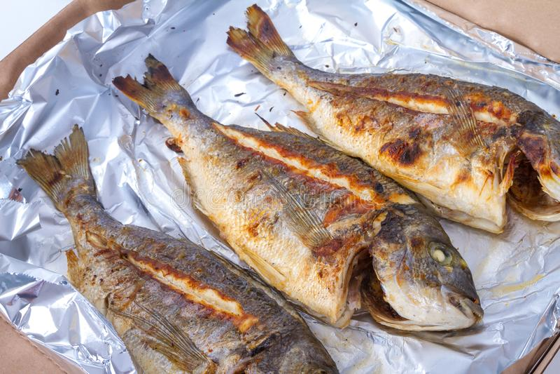 生鱼食物 免版税库存照片