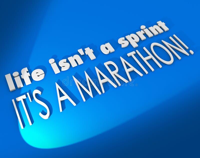 生活不是它是马拉松启发刺激Sayin的Sprint 皇族释放例证