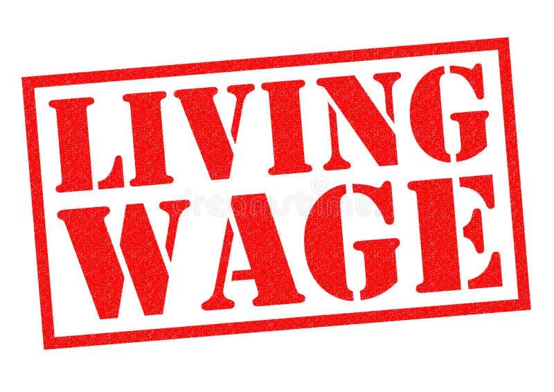 生活工资 向量例证