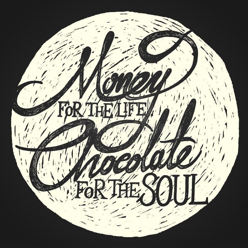 生活巧克力的金钱在月亮的灵魂的 皇族释放例证