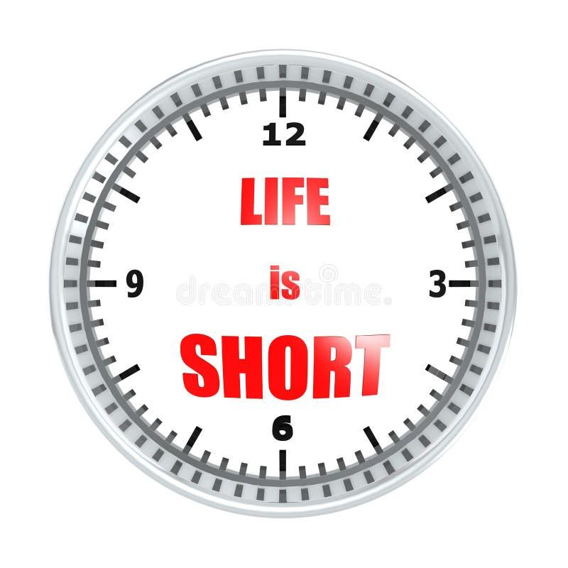 生活是短的 库存例证