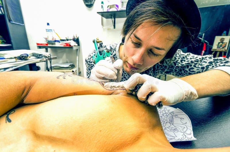 生活纹身花刺会议 免版税库存图片