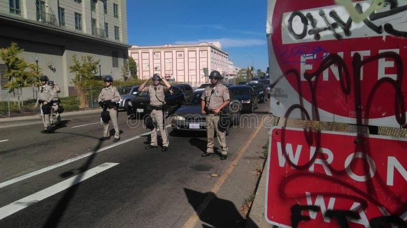 黑生活问题警察抗议 免版税图库摄影