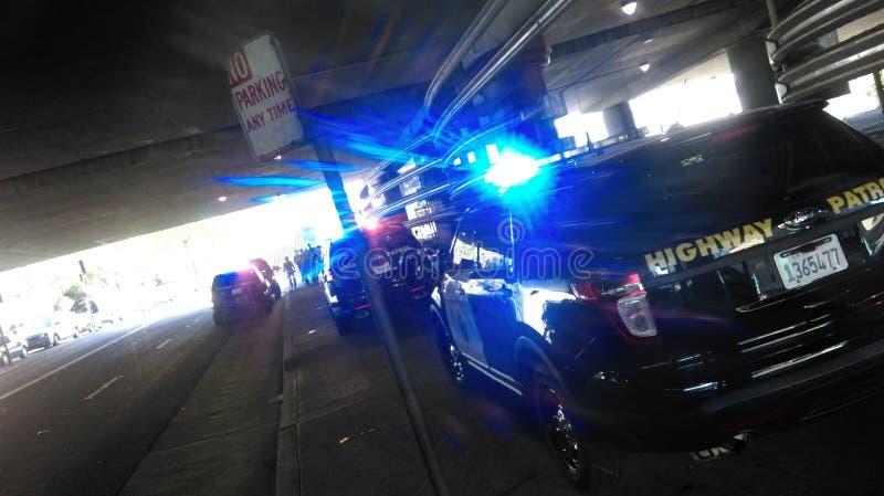 黑生活问题警察抗议 免版税库存照片