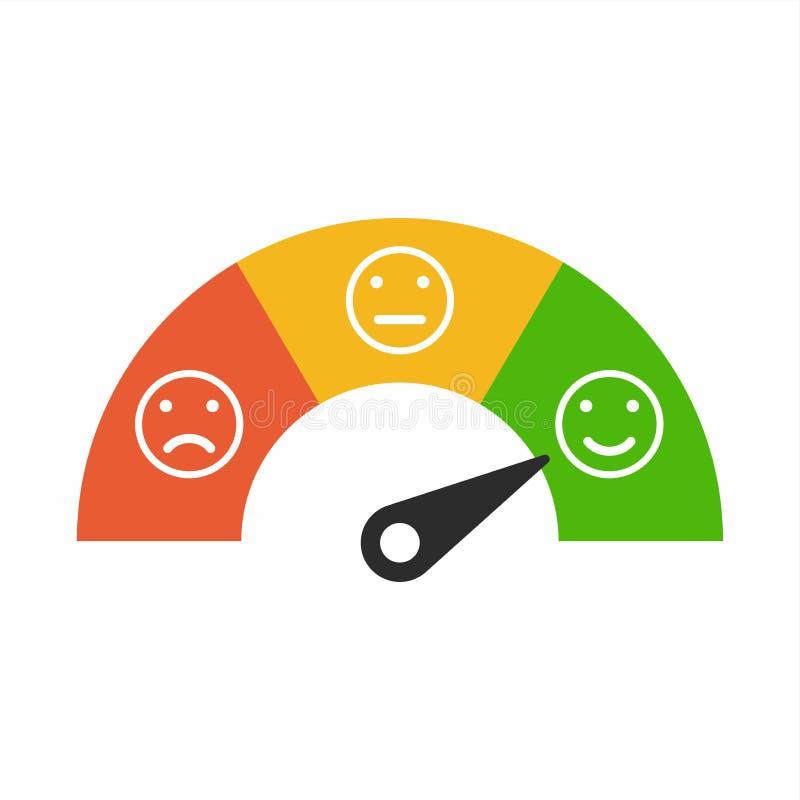 用不同的情感,情感的用户满意米称背景 皇族释放例证