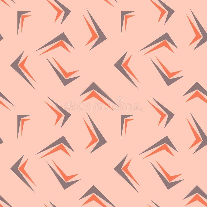 用不同的有角形式的摘要无缝的几何背景 向量例证
