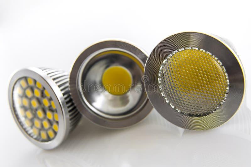 用不同的芯片的LED电灯泡 库存照片