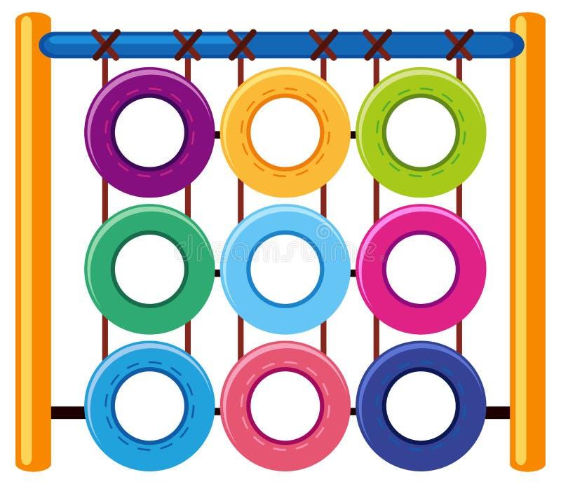 用不同的颜色圆环的上升的驻地 向量例证