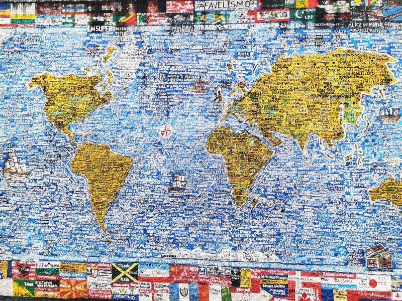 用不同词语制作的世界图片 库存照片