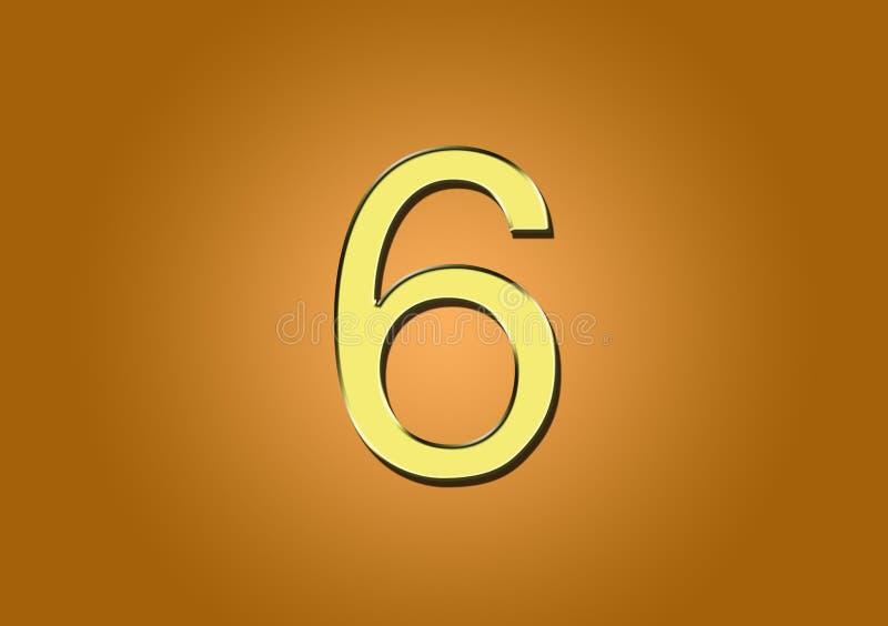 用于内容创建的数字6 皇族释放例证