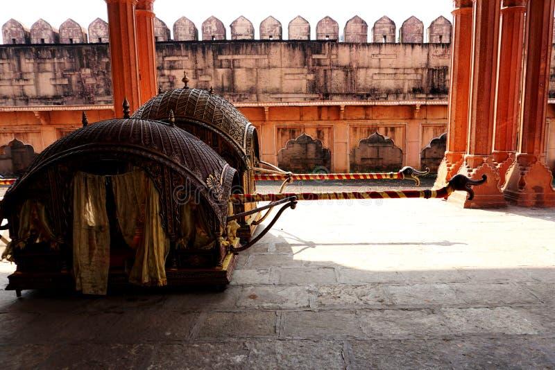 用于印度婚礼'的传统印度'doli 图库摄影
