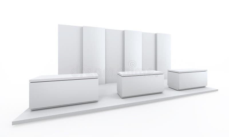 用于大模型的陈列立场简单的白色和烙记和公司本体 3d例证回报 现代创造性的设计a 皇族释放例证