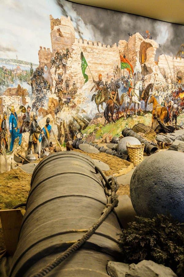 用于最后的攻击的巨大的围困大炮 免版税库存照片