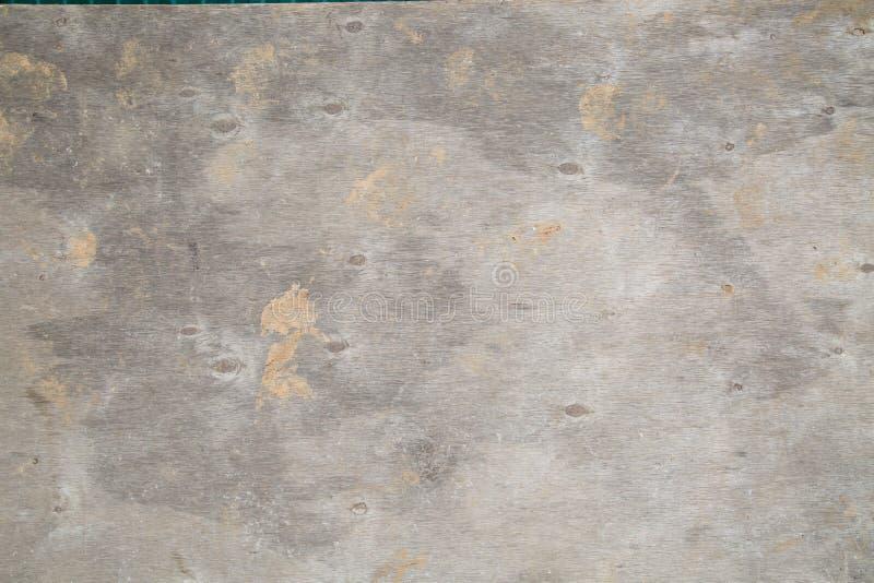用于模板的胶合板背景在具体工作的生产 图库摄影