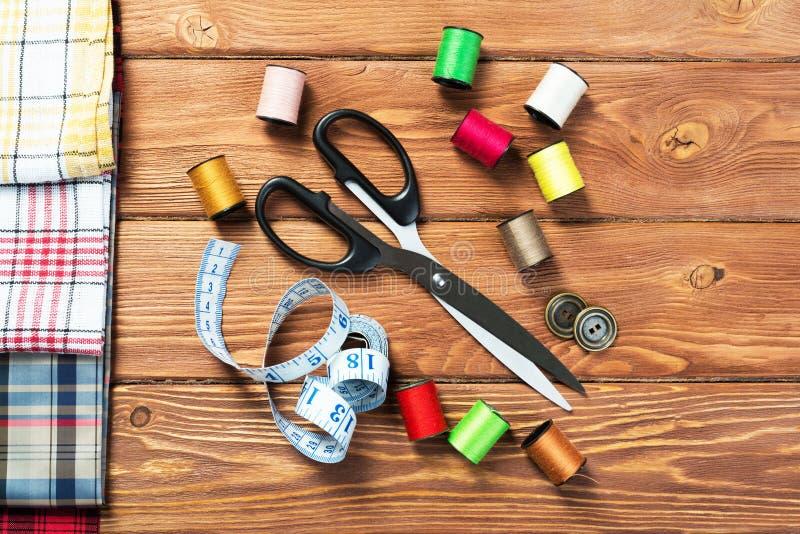 用于缝纫或DIY的项目 库存照片